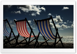 Beach Chairs On The Beach HD Wide Wallpaper for 4K UHD Widescreen desktop & smartphone