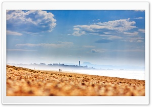 Beach Fog HD Wide Wallpaper for Widescreen