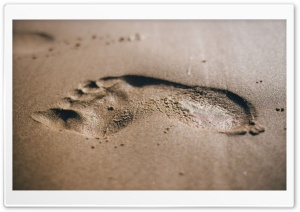 Beach Foot Print HD Wide Wallpaper for 4K UHD Widescreen desktop & smartphone