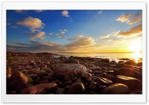 Beach Full Of Rocks HD Wide Wallpaper for Widescreen
