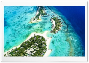 Beach Islands Aerial view 5K Ultra HD Wallpaper for 4K UHD Widescreen desktop, tablet & smartphone