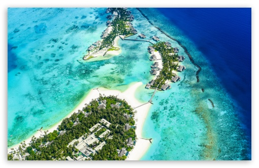 Download Beach Islands Aerial view 5K UltraHD Wallpaper