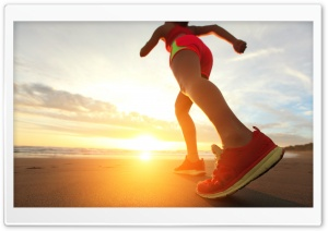 Beach Jogging HD Wide Wallpaper for Widescreen