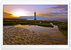 Beach Lighthouse HD Wide Wallpaper for Widescreen