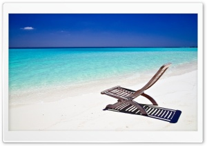 Beach Lounge Chair HD Wide Wallpaper for Widescreen