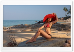 Beach Model HD Wide Wallpaper for Widescreen