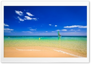 Beach Ocean Horizon Ultra HD Wallpaper for 4K UHD Widescreen desktop, tablet & smartphone
