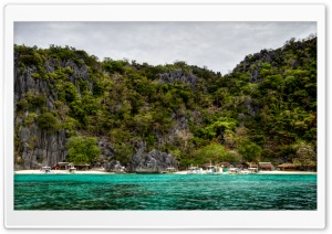Beach, Palawan, Philippines HD Wide Wallpaper for Widescreen