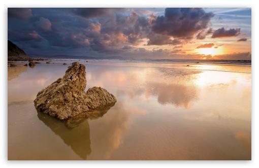 Download Beach Rock HD Wallpaper