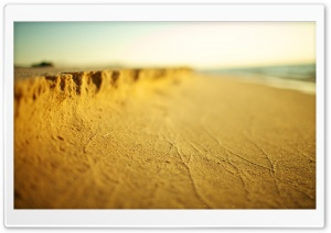 Beach Sand Tilt Shift HD Wide Wallpaper for Widescreen