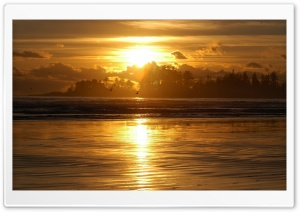Beach Scene Sunrise HD Wide Wallpaper for Widescreen
