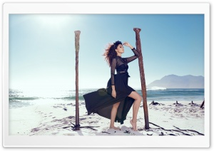 Beach, Sea, Woman, Breeze Ultra HD Wallpaper for 4K UHD Widescreen desktop, tablet & smartphone