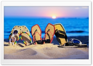 Beach Slippers HD Wide Wallpaper for Widescreen