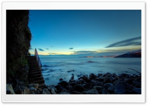 Beach Stairs HD Wide Wallpaper for Widescreen
