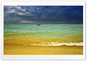 Beach Storm HD Wide Wallpaper for Widescreen