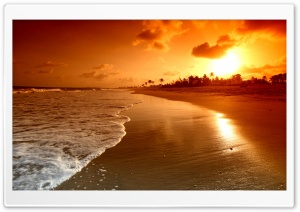 Beach Sunrise HD Wide Wallpaper for Widescreen