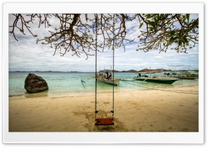 Beach Swing HD Wide Wallpaper for Widescreen