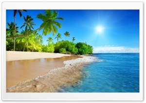 Beach, Tropical Island HD Wide Wallpaper for 4K UHD Widescreen desktop & smartphone