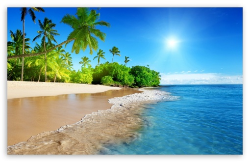 Hd Tropical Island Beach Paradise Wallpapers And Backgrounds: Beach, Tropical Island 4K HD Desktop Wallpaper For 4K