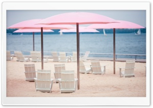 Beach Umbrellas HD Wide Wallpaper for Widescreen
