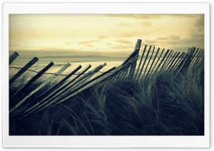 Beach Wooden Fence HD Wide Wallpaper for Widescreen