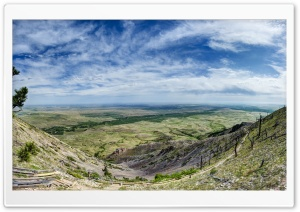 Bear Butte, Towards North Dakota HD Wide Wallpaper for Widescreen