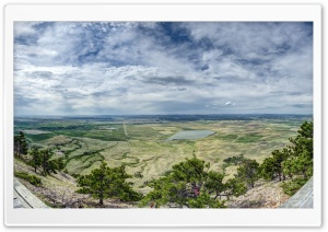 Bear Butte, Towards the Black Hills HD Wide Wallpaper for Widescreen