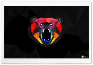 Bear Polygon HD Wide Wallpaper for Widescreen