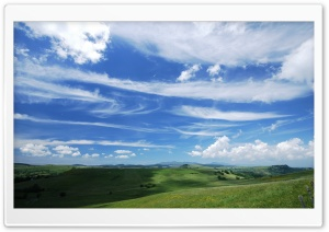 Beautiful Blue Cloudy Sky HD Wide Wallpaper for Widescreen