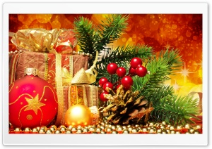 Beautiful Christmas Arrangement HD Wide Wallpaper for Widescreen