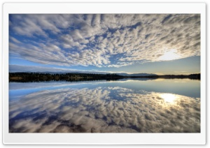 Beautiful Clouds Reflection HD Wide Wallpaper for Widescreen