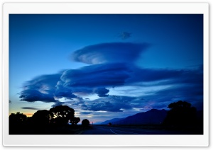 Beautiful Clouds, Road HD Wide Wallpaper for Widescreen
