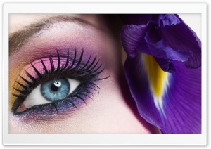 Beautiful Eye Close-Up HD Wide Wallpaper for Widescreen