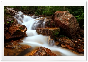 Beautiful Forest Waterfall Long Exposure HD Wide Wallpaper for 4K UHD Widescreen desktop & smartphone