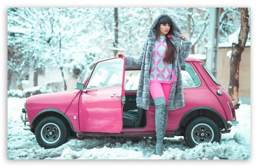 Beautiful Girl, Winter, Pink Retro Small Car UltraHD Wallpaper for Wide 16:10 5:3 Widescreen WHXGA WQXGA WUXGA WXGA WGA ; UltraWide 21:9 24:10 ; 8K UHD TV 16:9 Ultra High Definition 2160p 1440p 1080p 900p 720p ; UHD 16:9 2160p 1440p 1080p 900p 720p ; Standard 4:3 5:4 3:2 Fullscreen UXGA XGA SVGA QSXGA SXGA DVGA HVGA HQVGA ( Apple PowerBook G4 iPhone 4 3G 3GS iPod Touch ) ; Smartphone 16:9 3:2 5:3 2160p 1440p 1080p 900p 720p DVGA HVGA HQVGA ( Apple PowerBook G4 iPhone 4 3G 3GS iPod Touch ) WGA ; Tablet 1:1 ; iPad 1/2/Mini ; Mobile 4:3 5:3 3:2 16:9 5:4 - UXGA XGA SVGA WGA DVGA HVGA HQVGA ( Apple PowerBook G4 iPhone 4 3G 3GS iPod Touch ) 2160p 1440p 1080p 900p 720p QSXGA SXGA ;