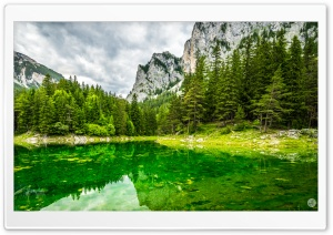 Beautiful Green Lake Ultra HD Wallpaper for 4K UHD Widescreen desktop, tablet & smartphone