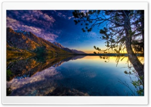 Beautiful Lake Reflection, HDR HD Wide Wallpaper for Widescreen