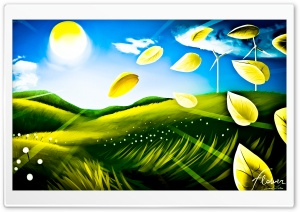 Beautiful Landscape Drawing HD Wide Wallpaper for 4K UHD Widescreen desktop & smartphone