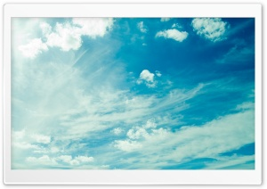 Beautiful Light Blue Sky HD Wide Wallpaper for Widescreen