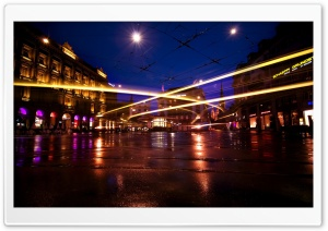 Beautiful Long Exposure, City At Night HD Wide Wallpaper for Widescreen
