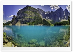 Beautiful Moraine Lake in Banff National Park, Alberta, Canada HD Wide Wallpaper for Widescreen