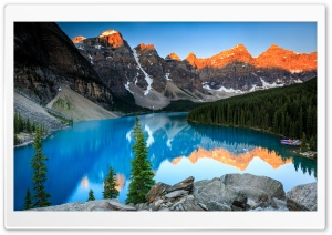 Beautiful Moraine Lake, Sunrise Ultra HD Wallpaper for 4K UHD Widescreen desktop, tablet & smartphone