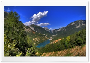 Beautiful Mountain Lake HD Wide Wallpaper for Widescreen