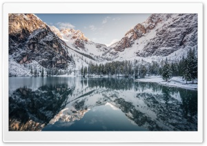Beautiful Mountain Landscape Winter Ultra HD Wallpaper for 4K UHD Widescreen desktop, tablet & smartphone
