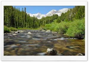 Beautiful Mountain River HD Wide Wallpaper for Widescreen