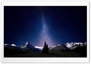 Beautiful Night Sky HD Wide Wallpaper for 4K UHD Widescreen desktop & smartphone