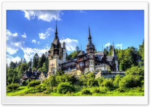 Beautiful Peles Castle HD Wide Wallpaper for Widescreen
