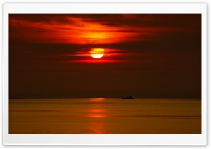 Beautiful Red Sunset HD Wide Wallpaper for Widescreen