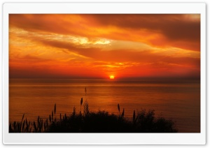 Beautiful Sea Sunset HD Wide Wallpaper for Widescreen