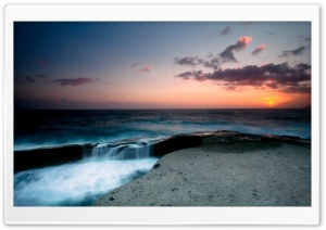 Beautiful Seascape, Evening HD Wide Wallpaper for Widescreen